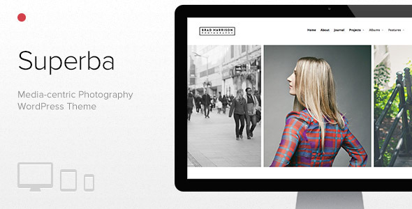 Superba: Media centric Photography WordPress Theme