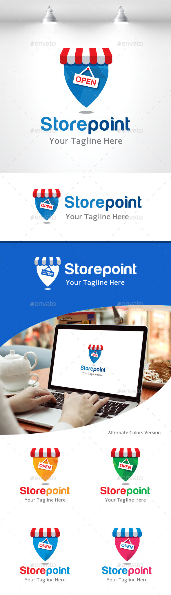 GraphicRiver Store Point Location Logo 11158481