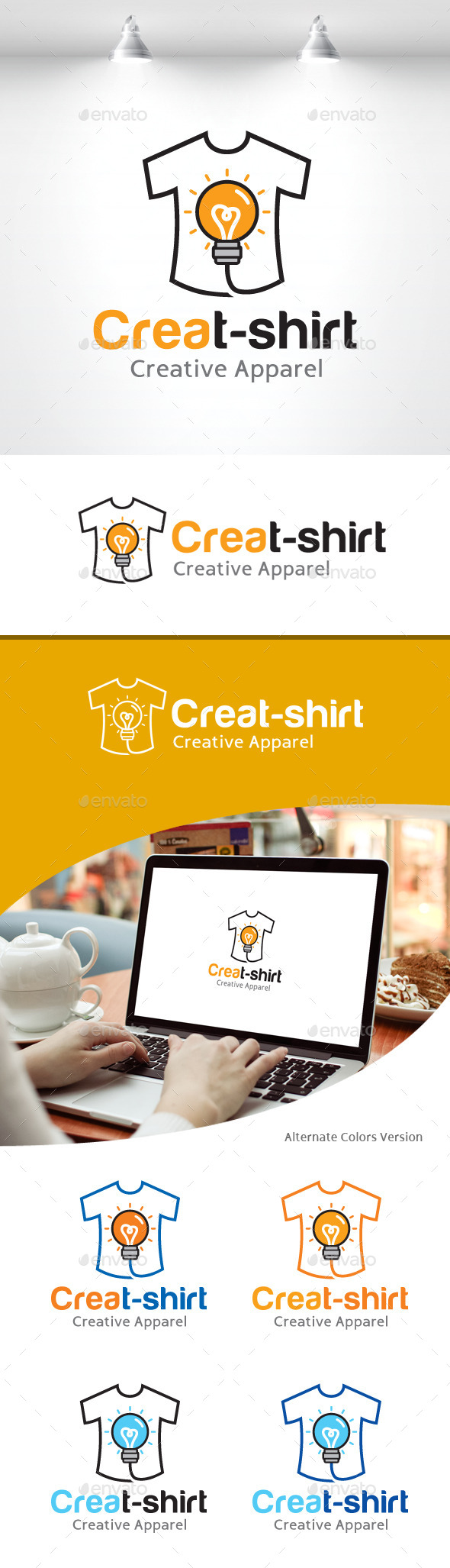 GraphicRiver Creative T-shirt Logo 11157893