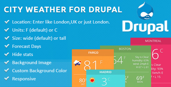 CodeCanyon City Weather for Drupal 11168996