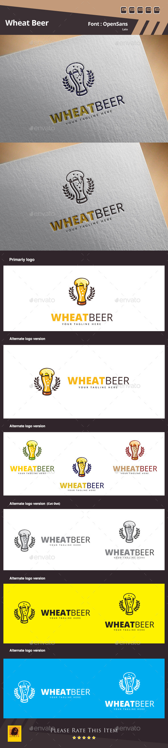 GraphicRiver Wheat Beer Logo Template 11168998