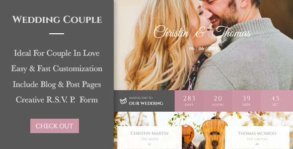 ThemeForest Wedding Couple Love Page For Wedding Cerimony 11088558