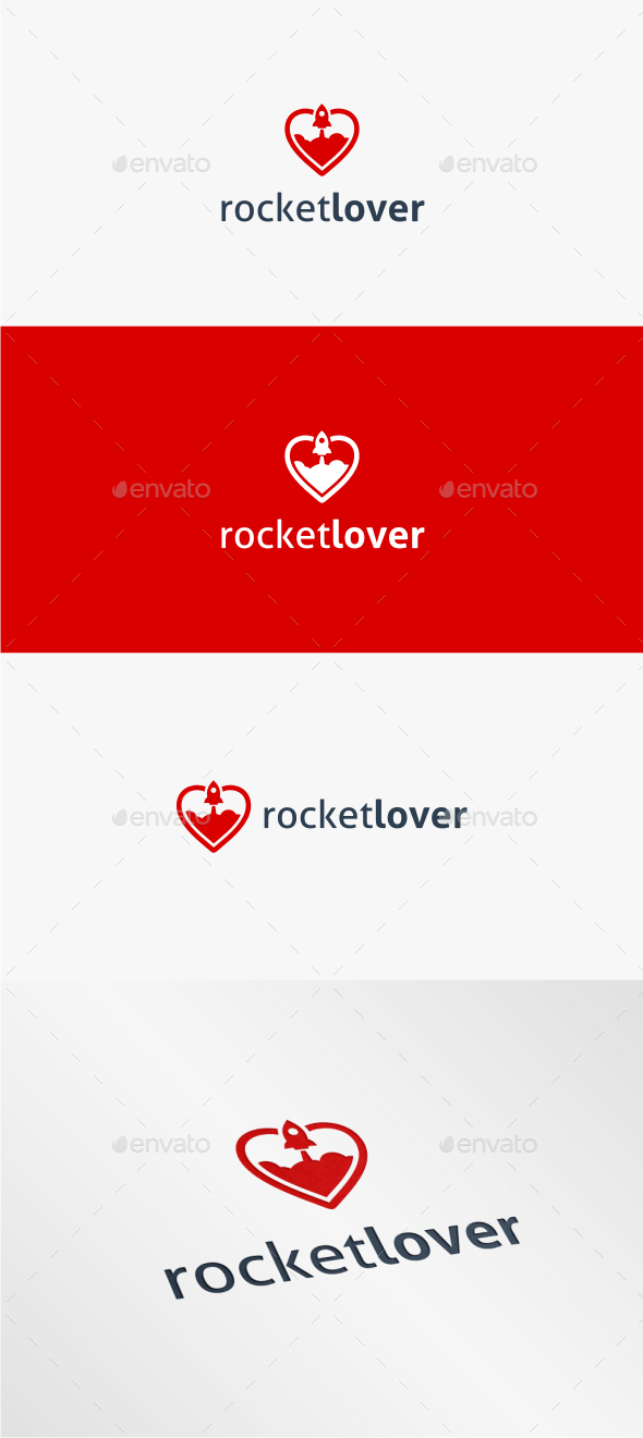 GraphicRiver Rocket Lover Logo Template 11170259