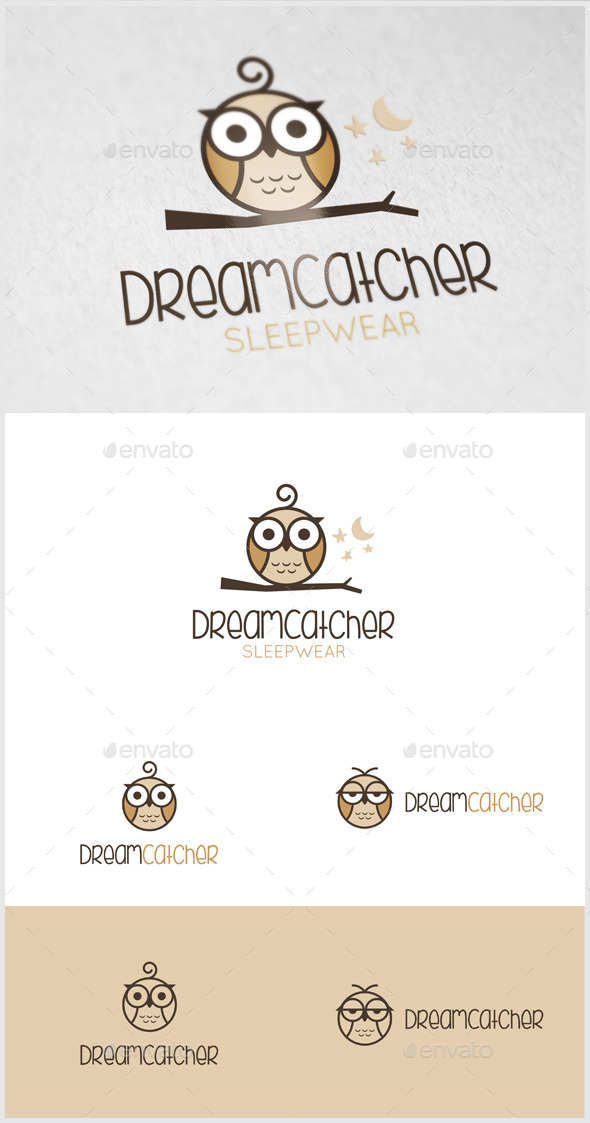 GraphicRiver Dream Catcher Owl logo 11170263
