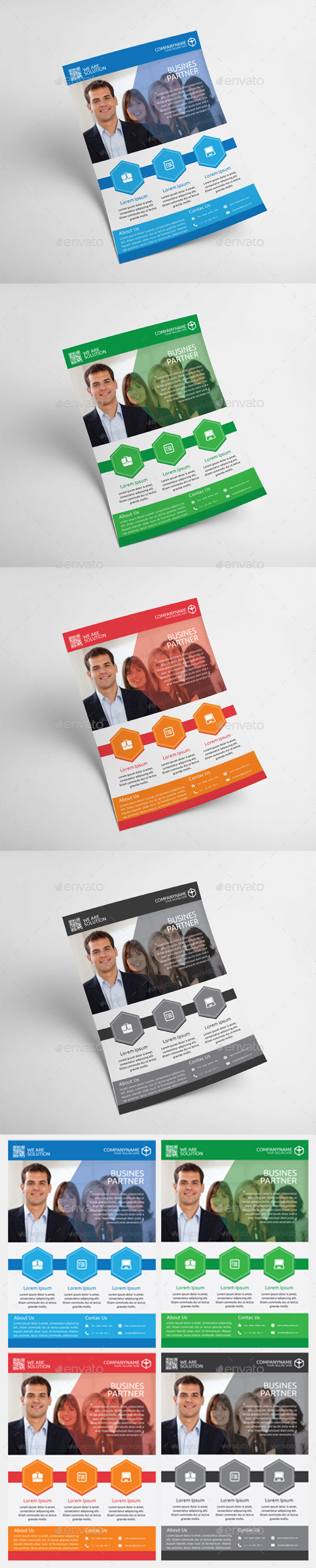 GraphicRiver Modern Corporate Business Flyer Vol 1 11170334