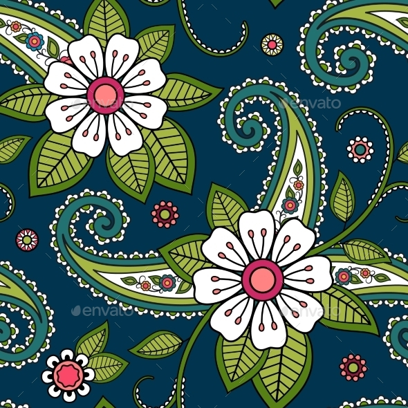 GraphicRiver Seamless Flower Pattern 11170336