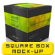 Multipurpose Square Package/Box Mock up - GraphicRiver Item for Sale