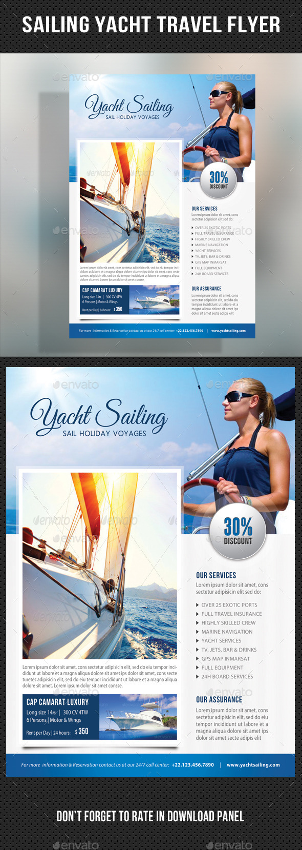 GraphicRiver Sailing Yacht Travel Flyer 05 11170396