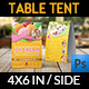 Ice Cream Table Tent Template - GraphicRiver Item for Sale