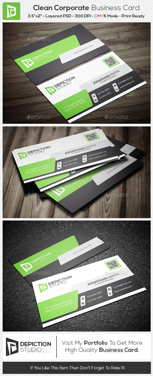 GraphicRiver Clean Corporate Business Card 11170492