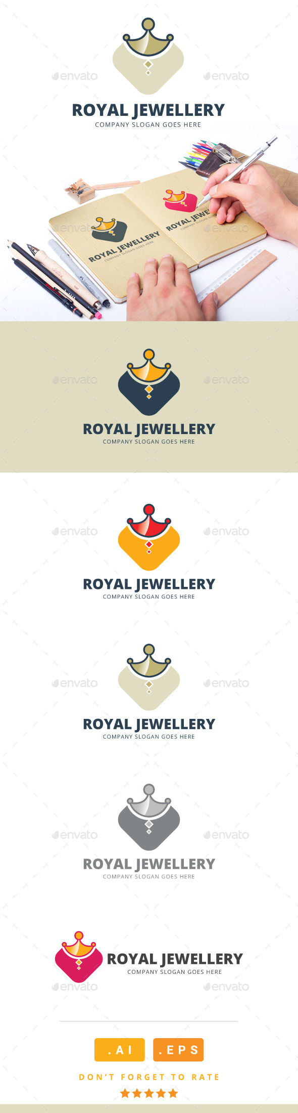 GraphicRiver Royal Jewellery Logo 11170503