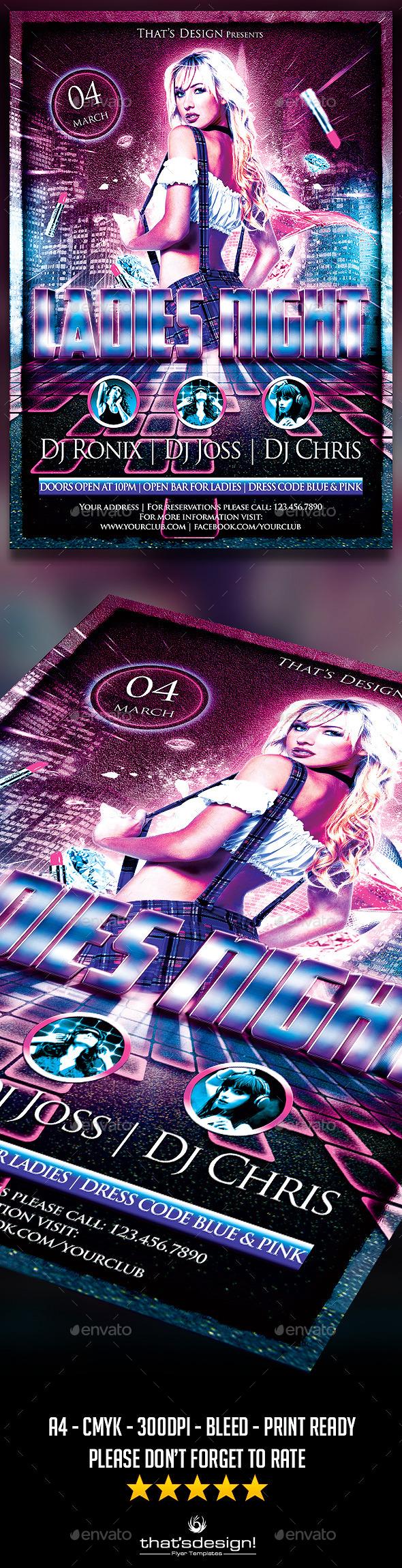Urban Ladies Night Flyer Template - Print Templates