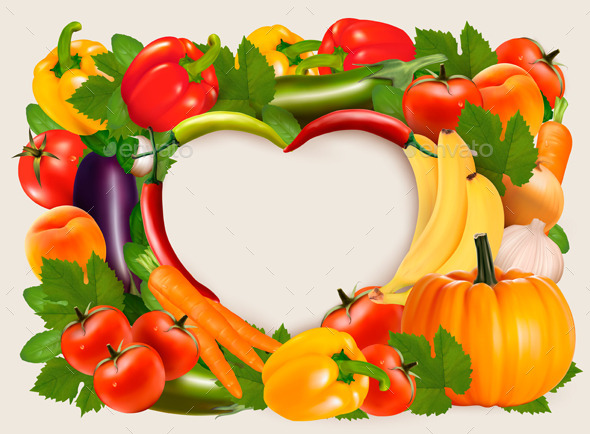 GraphicRiver Vegetable Frame 11162182