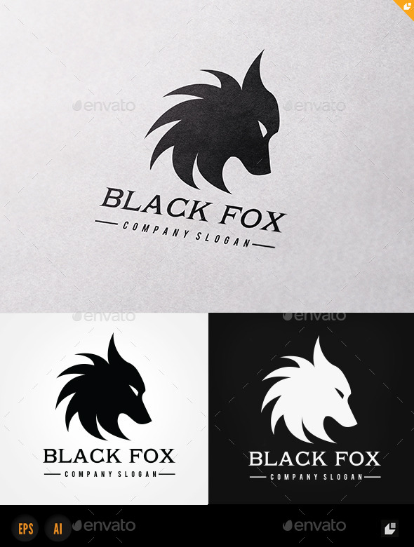 GraphicRiver Black Fox 11170651
