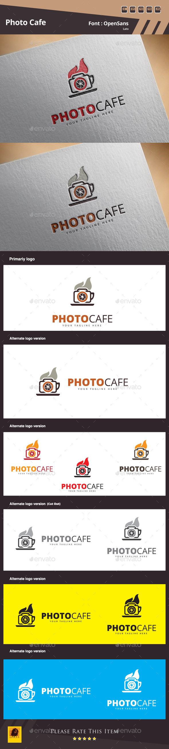 GraphicRiver Photo Cafe Logo Template 11170684