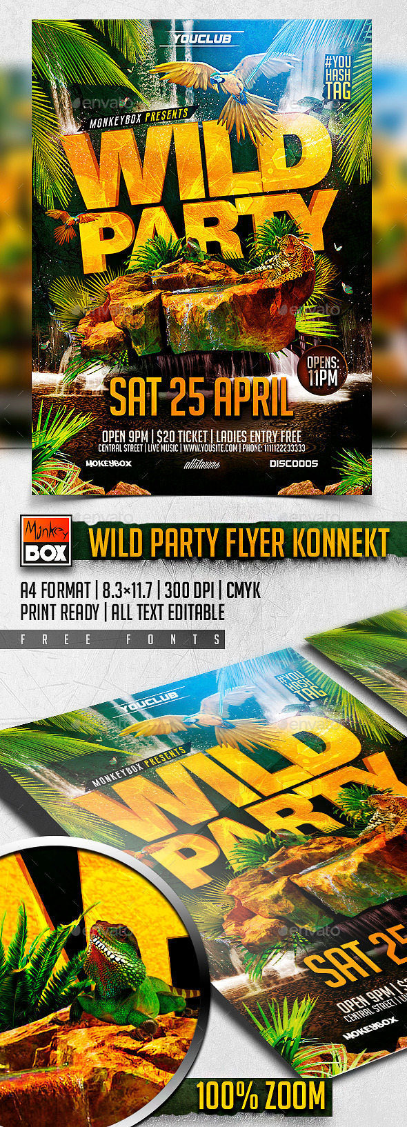 GraphicRiver Wild Party Flyer Konnekt 11170779