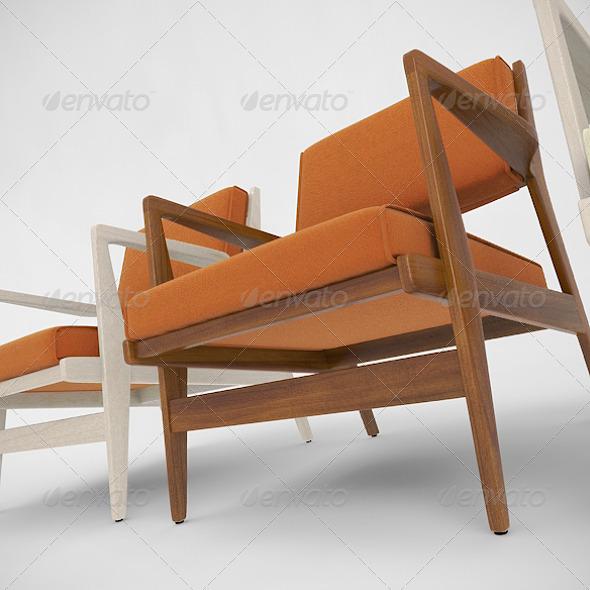 3DOcean Jens Risom Caribe Hilton Chair 138151