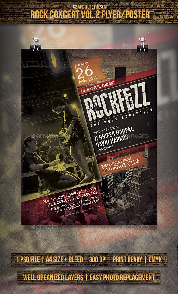 GraphicRiver Rock Concert Flyer Poster Vol.2 11171090