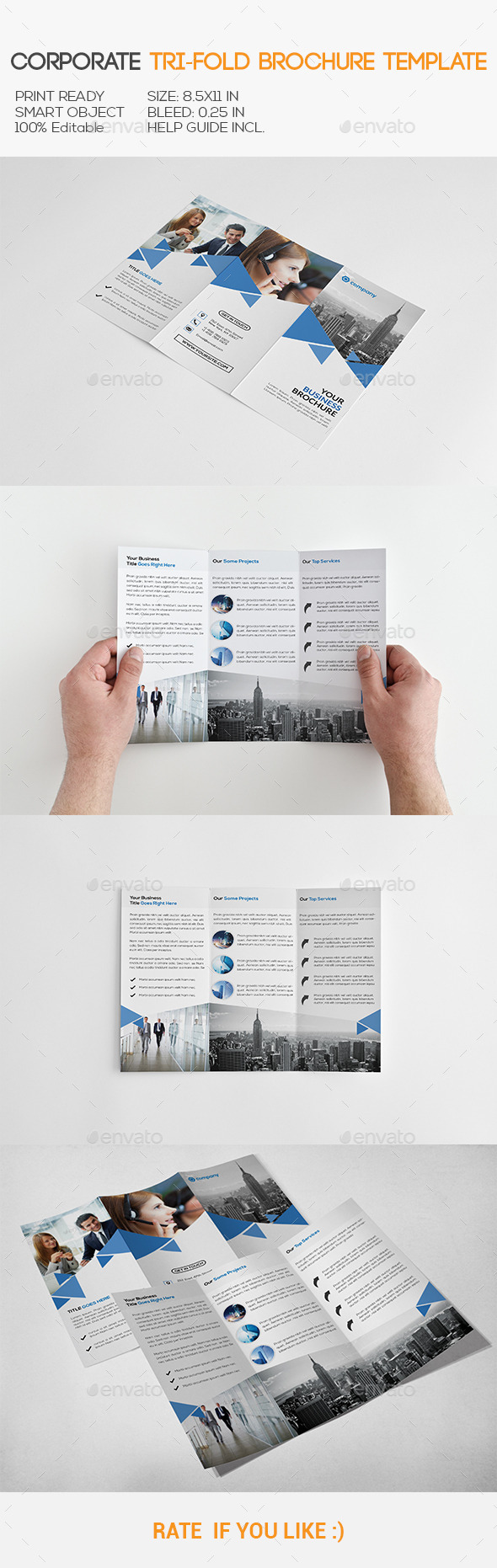 GraphicRiver Corporate Trifold Brochure 11171100