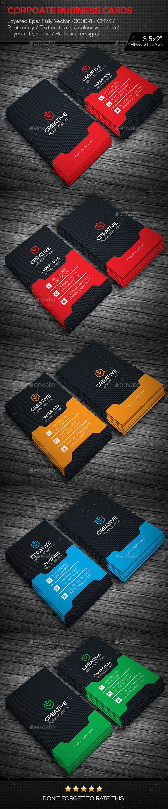 GraphicRiver Creative Corporate Business Cards 11171115