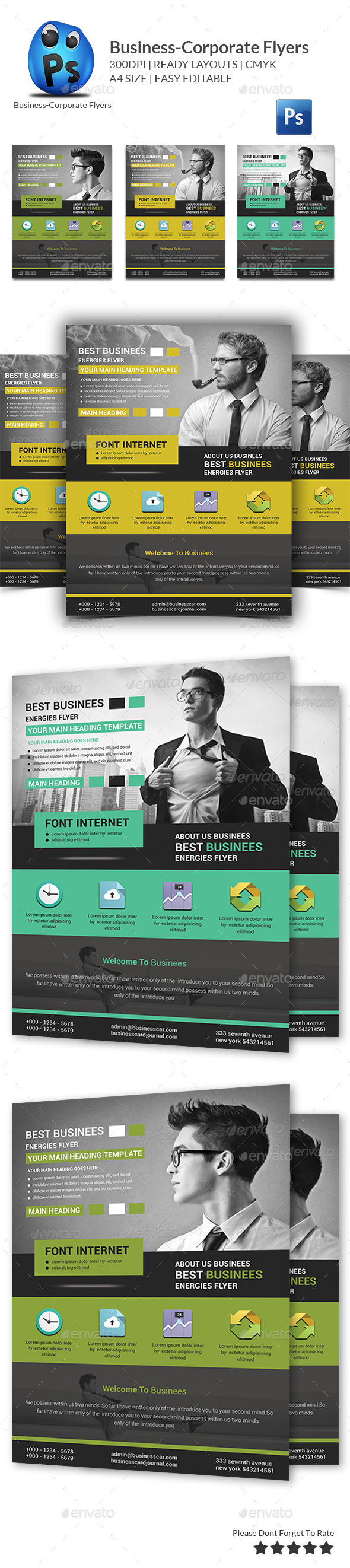 GraphicRiver Corporate Business Flyer Template 11097970