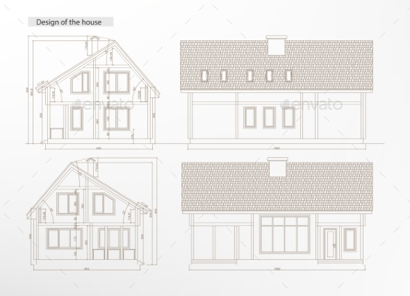 GraphicRiver Architectural House Blueprint 11171169