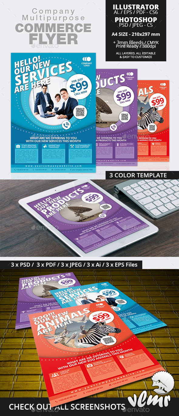 GraphicRiver Company Multipurpose Commerce Flyer Ad Template 11115806