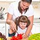 mother and kid preparing healthy food - PhotoDune Item for Sale