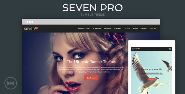 ThemeForest Seven Pro Tumblr Theme 11171337