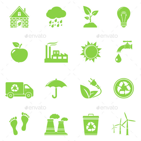 GraphicRiver Ecology and Recycle Icons 11171421