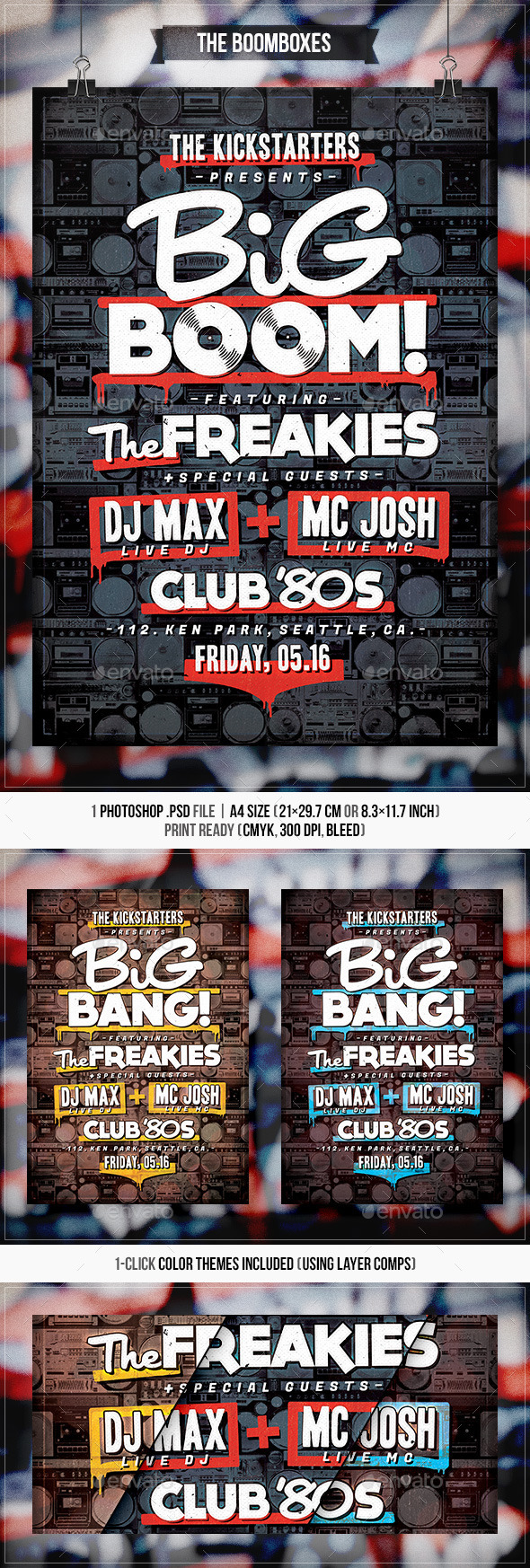 GraphicRiver The Boomboxes Flyer & Poster 11171422