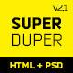 SuperDuper | HTML5 Template Responsive - ThemeForest Item for Sale