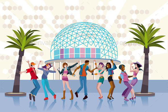 GraphicRiver Young People Dancing In a Club 11171586