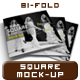 Square Bi-fold Catalog/Brochure Mock Up - GraphicRiver Item for Sale