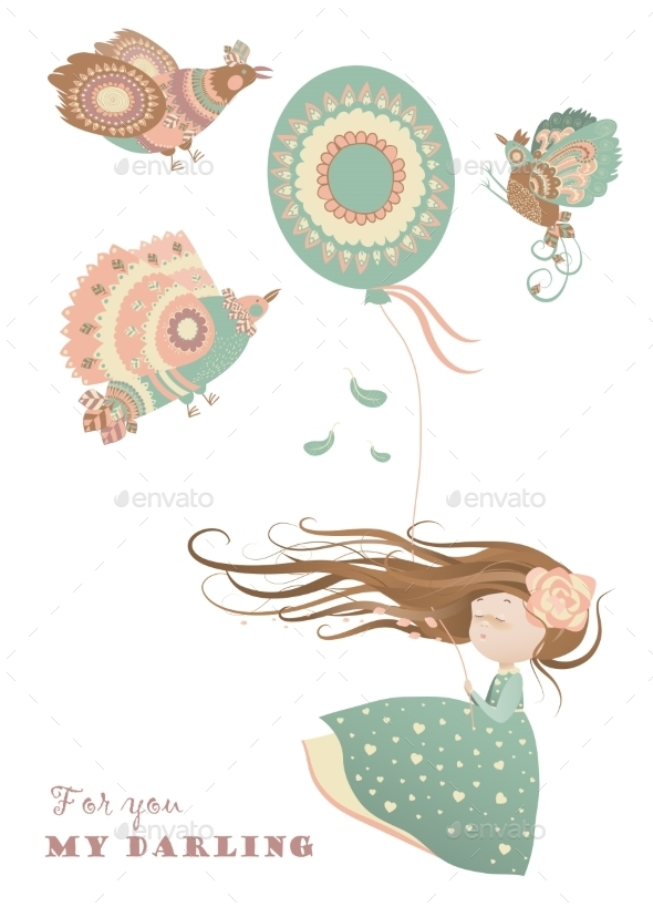 GraphicRiver Girl with Balloon 11171707