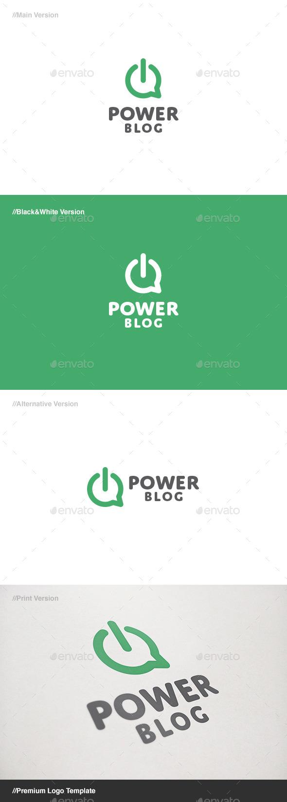 GraphicRiver Power Blog Logo 11171931