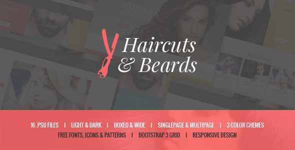 ThemeForest Haircuts & Beards Barbershop & Hair Salon 11155387