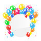 Balloons and Circle Card - GraphicRiver Item for Sale