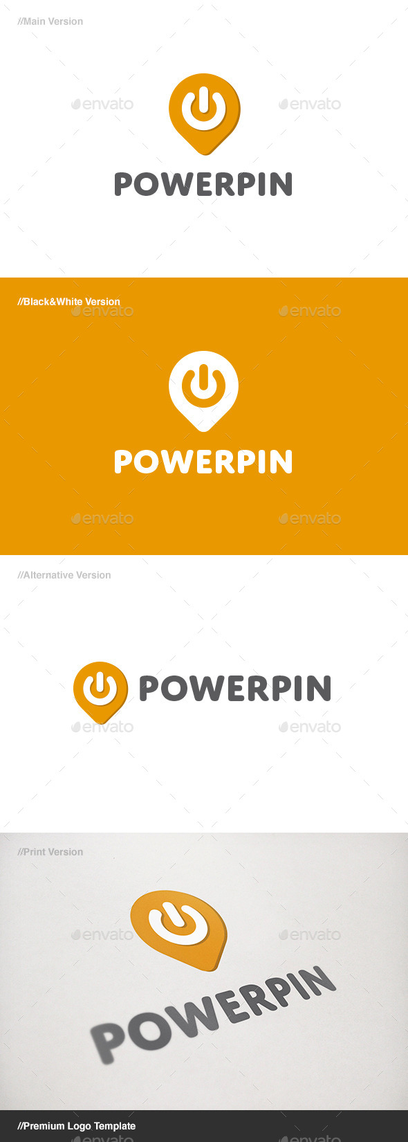 GraphicRiver Power Pin Logo 11172321