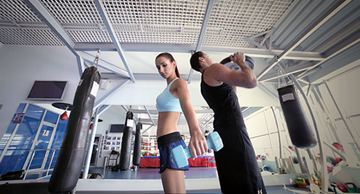 Fitness Training In The Gym