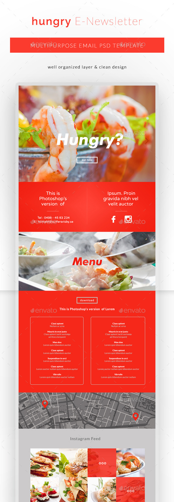 GraphicRiver Hungry Restaurant E-Newsletter 11166682