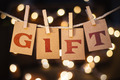 Gift Concept Clipped Cards and Lights - PhotoDune Item for Sale