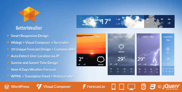 Better Weather - WordPress and Visual Composer Widget - CodeCanyon Item for Sale