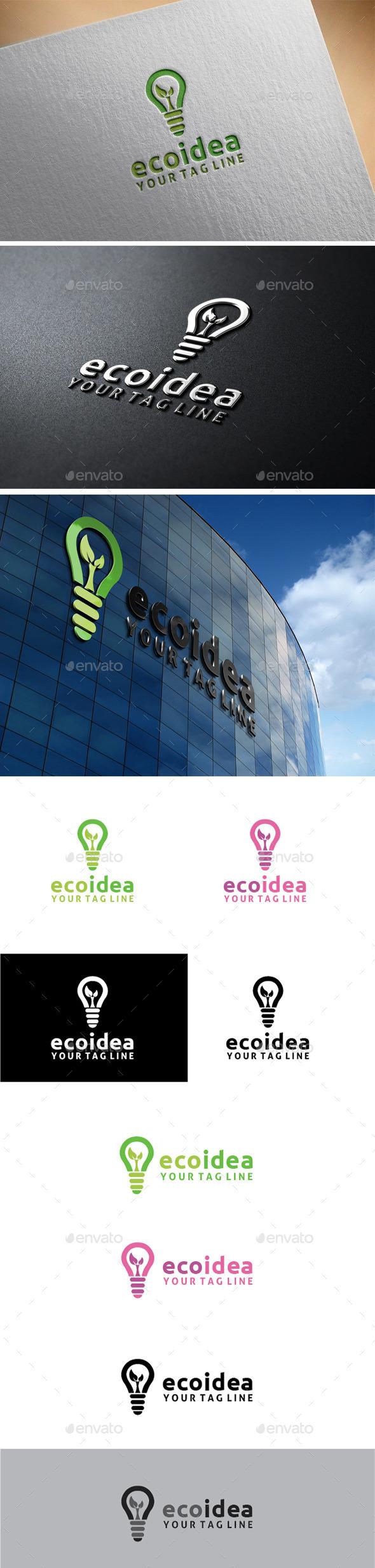 GraphicRiver Eco Idea Logo 11172942