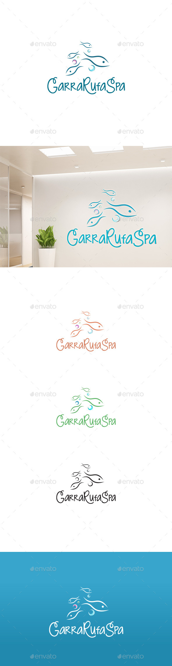 GraphicRiver Fish Garra Rufa Logo 11173023