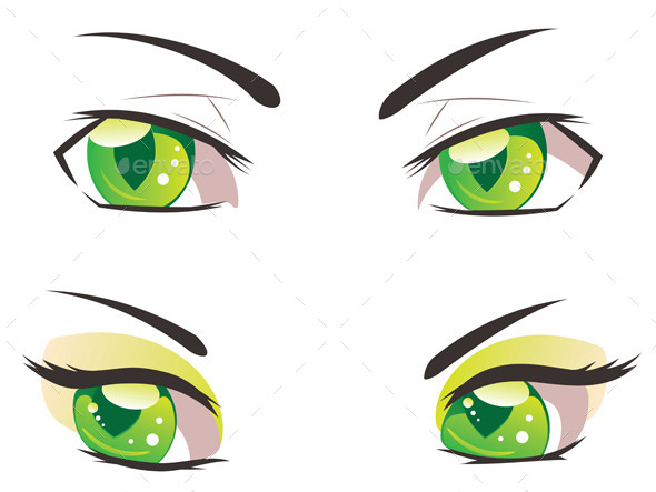 GraphicRiver Cartoon Green Eyes 11173025