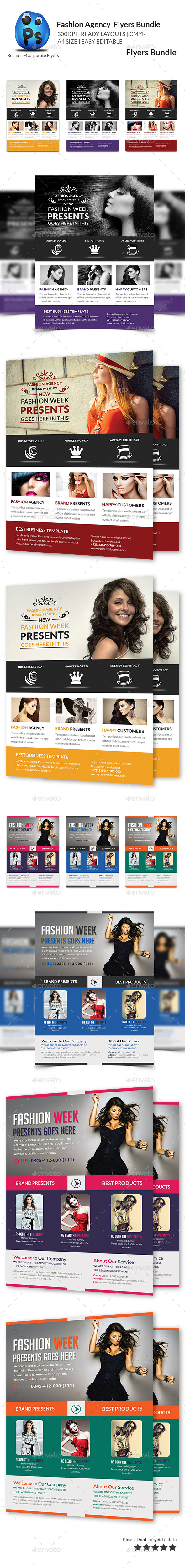 GraphicRiver Fashion Agency Flyers Bundle 11173033