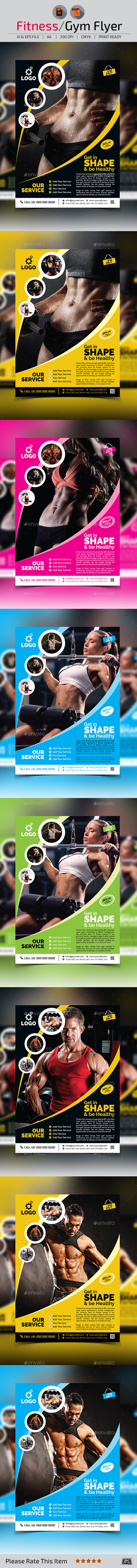GraphicRiver Fitness Gym Flyer Template v2 11173135