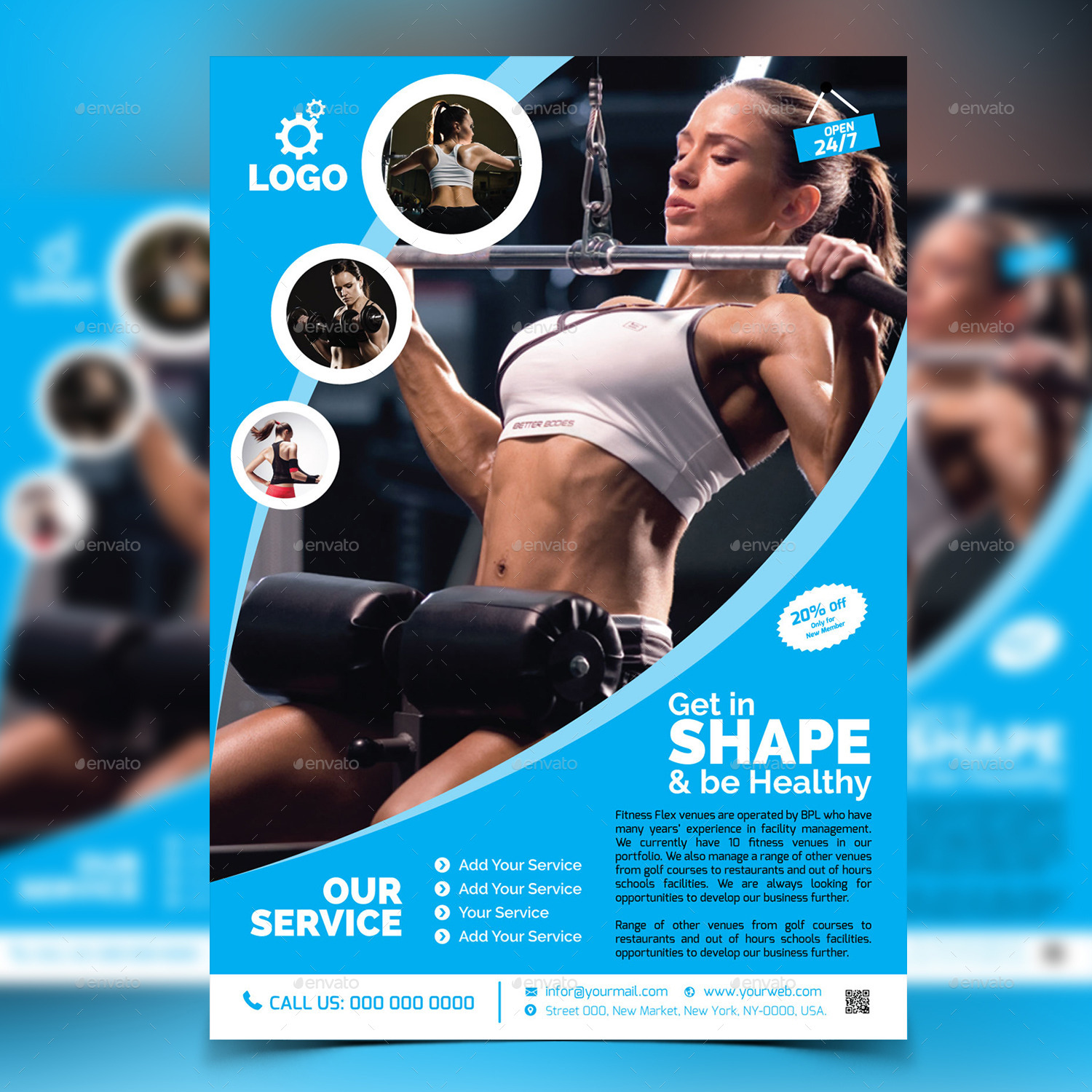 Fitness Gym Flyer Template v2 by aam360 – Fitness Flyer Template