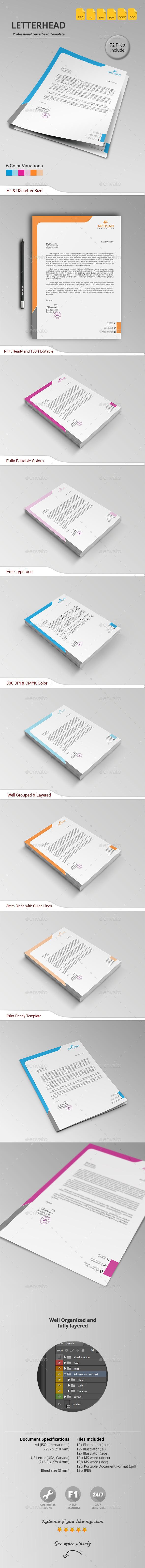 GraphicRiver Letterhead 11173155